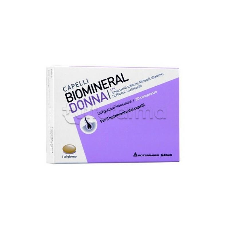 Biomineral Donna Integratore Cute e Capelli 30 Compresse