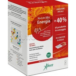 Aboca Natura Mix Advanced Energia Confezione Speciale 40% In Omaggio 20 Buste+8 Buste
