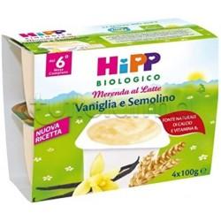Hipp Biologico Merenda al Latte Vaniglia e Semolino 4 x 100g
