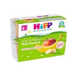 Hipp Biologico Frutta Grattugiata Mela e Banana 4 x 100g