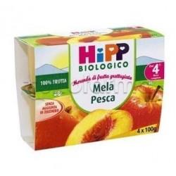Hipp Biologico Frutta Grattugiata Mela e Pesca 4 x 100g