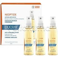 Ducray Neoptide Lozione Coadiuvante Contro la Caduta dei Capelli Donna 3 Flaconcini da 30ml