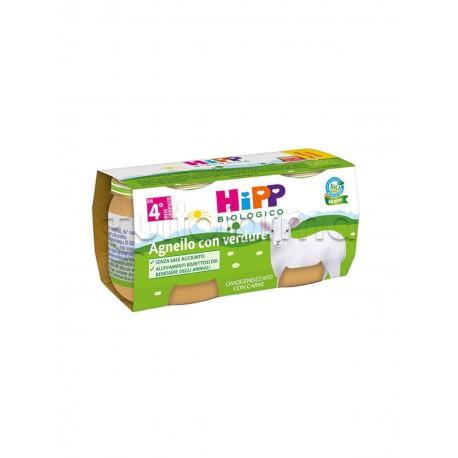 Hipp Biologico Omogeneizzato Agnello con Verdure 2 x 80g