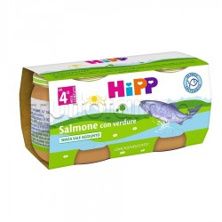 Hipp Omogeneizzato Salmone con Verdure 2 x 80g