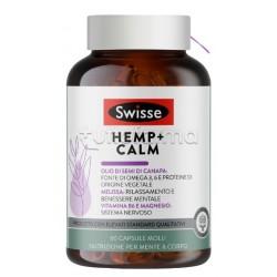 Swisse Hemp+ Calm Integratore per Sonno e Rilassamento Mentale con Olio di Semi di Canapa 60 Capsule Molli