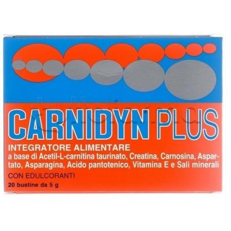 Carnydin Plus Integratore Alimentare Di Carnitina 20 Bustine