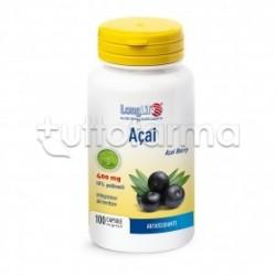 Longlife Açai Integratore Antiossidante 100 Capsule