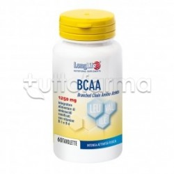 Longlife BCAA 1250mg Integratore per Metabolismo Energetico 60 Tavolette