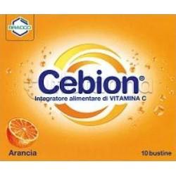 Cebion Integratore di Vitamina C Gusto Arancia 10 Bustine 500 mg