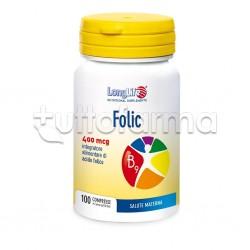 Longlife Folic 400mcg Integratore per Gravidanza 100 Compresse