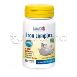 Longlife Iron Complex Integratore per Metabolismo Energetico 100 Compresse