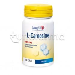 Longlife L-Carnosine Integratore per Muscoli 60 Capsule