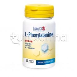 Longlife L-Phenylalanine 500mg Integratore di Aminoacidi 60 Tavolette