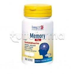 Longlife Memory Plus Integratore per Memoria e Funzione Cognitiva 30 Capsule