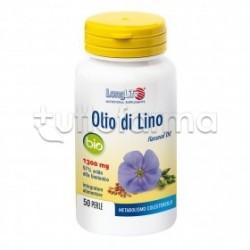 Longlife Olio di Lino Bio Integratore per Colesterolo 50 Perle