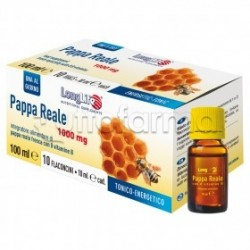 Longlife Pappa Reale 1000mg Integratore Energetico 10 Flaconcini