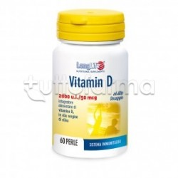 Longlife Vitamin D 2000 UI Integratore di Vitamina D 60 Perle