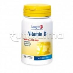 Longlife Vitamin D 400 UI Integratore di Vitamina D 100 Compresse