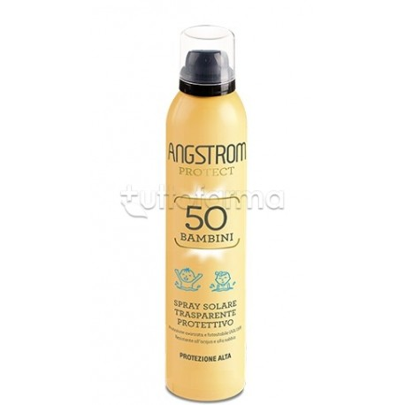 Angstrom Protect Kids Spray Solare Trasparente Protettivo SPF 50 250ml