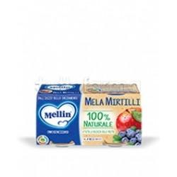 Mellin Omogeneizzato Mela e Mirtillo 2 Confezioni da 100g