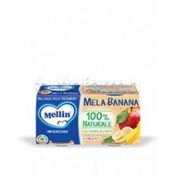 Mellin Omogeneizzato Mela e Banana 2 Confezioni da 100g