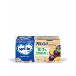 Mellin Omogeneizzato Prugna e Mela 2 Confezioni da 100g