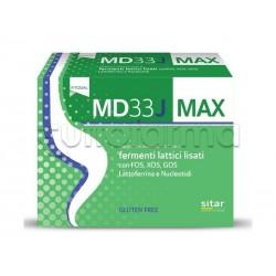 MD33 J Max Integratore con Fermenti Lattici per Bambini Confezione Risparmio 21 Bustine