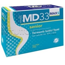 MD33 S Max Integratore con Fermenti Lattici per Over 60 Confezione Risparmio 21 Bustine