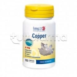 Longlife Copper Integratore Antiossidante 100 Compresse