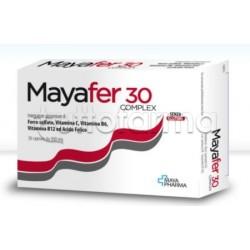 Mayafer 30 Complex Integratore di Ferro e Acido Folico 30 Capsule