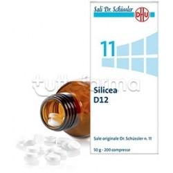 Sale Dr. Schüssler N. 11 Silicea D12 Omeopatico 200 Compresse