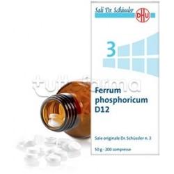 Sale Dr. Schüssler N. 3 Ferrum Phosphoricum D12 Omeopatico 200 Compresse