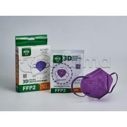 Mascherina Respiratoria Filtrante FFP2 Ryk Viola Certificata CE 10 Mascherine