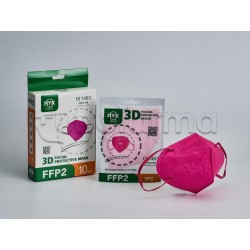 Mascherina Respiratoria Filtrante FFP2 Ryk Fucsia Certificata CE 1 Mascherina