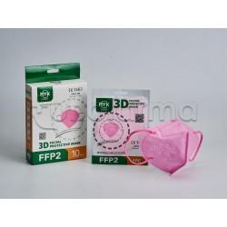 Mascherina Respiratoria Filtrante FFP2 Ryk Rosa Certificata CE 1 Mascherina