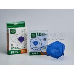Mascherina Respiratoria Filtrante FFP2 Ryk Blu Certificata CE 1 Mascherina