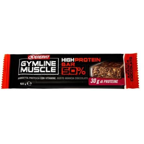 Enervit Gymline Barretta Arancio Cioccolato 50% Barrette Proteiche 60g