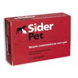 Sider Pet Integratore Veterinario di Ferro per Cani e Gatti 30 Compresse