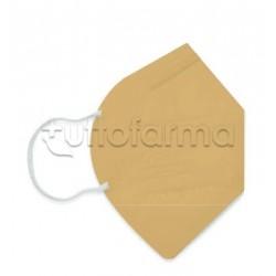 Mascherina Respiratoria Filtrante FFP2 Made in Italy Certificata CE Colore Oro 1 Mascherina