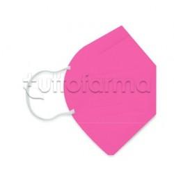 Mascherina Respiratoria Filtrante FFP2 Made in Italy Certificata CE Colore Fucsia 1 Mascherina