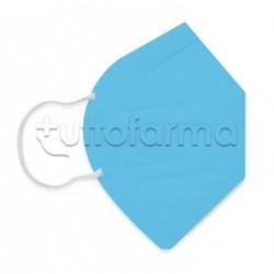 Mascherina Respiratoria Filtrante FFP2 Made in Italy Certificata CE Colore Turchese 1 Mascherina