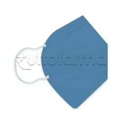 Mascherina Respiratoria Filtrante FFP2 Made in Italy Certificata CE Colore Cobalto 1 Mascherina