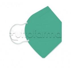 Mascherina Respiratoria Filtrante FFP2 Made in Italy Certificata CE Colore Verde Smeraldo 1 Mascherina