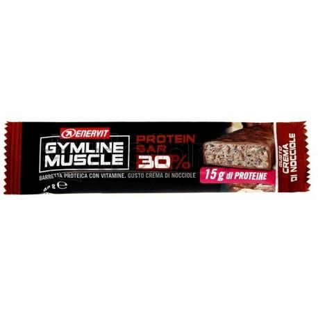Enervit Gymline Barretta Nocciola 30% Barrette Proteiche 48 g