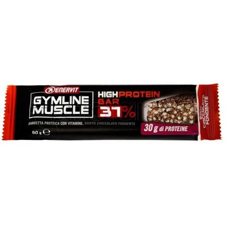 Enervit Gymline Barrette Cioccolato Fondente 37% Barrette Proteiche 80 g
