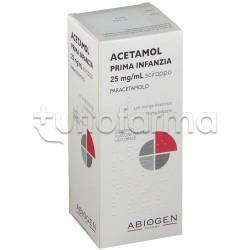 Acetamol Prima Infanzia Sciroppo Paracetamolo 100 ml