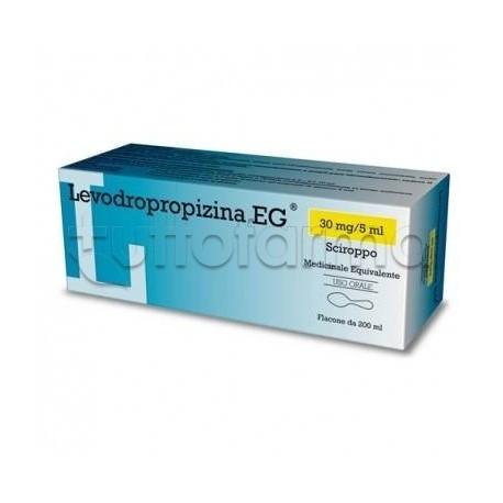 Levodropropizina Eg Sciroppo Tosse 200 ml Sedativo della Tosse (Equivalente Levotuss)