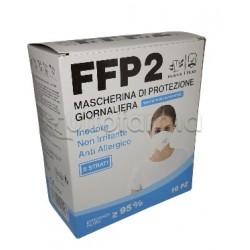 Mascherina Respiratoria Filtrante FFP2 Barbeador Colorata Nera Certificata CE 10 Mascherine