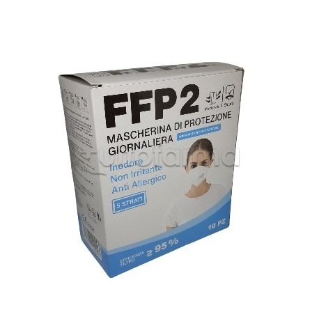 Mascherina Respiratoria Filtrante FFP2 Barbeador Colorata Rossa Certificata CE 10 Mascherine
