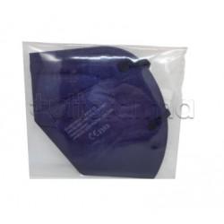 Mascherina Respiratoria Filtrante FFP2 Barbeador Colorata Blu Certificata CE 1 Mascherina